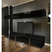 Large Tv Cabinets Large Tv Stand Wall Mounted Storage Cabinet Black Glass Black