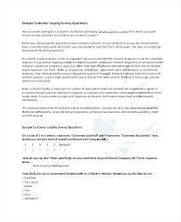 Paper Questionnaire Template Employment Questionnaire Template