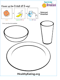 Small Picture Power Up Your Breakfast Coloring Sheet