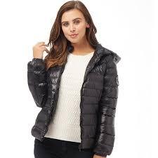 brave soul womens everett puffer jacket black
