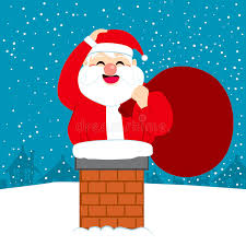 Download Fat Santa Christmas Chimney Stock Vector - Illustration of noel,  house: 59691551
