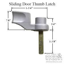 sliding door thumb turn choose color pinit