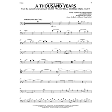 a thousand years piano sheet music the piano guys book