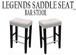 white saddle stool. Unique White Legends Modern Upholstered 30u0026quot Saddle Seat Bar Stools  Set Of 2 White  With White Stool S