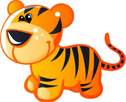 cute animated baby tigers. Delighful Baby Cute Baby Yellow And Brown Cartoon Tiger  Custom Wall Decals Inside Animated Tigers N