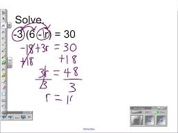 distributive property combining like terms solving two step equations