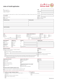 Letter Of Credit Application