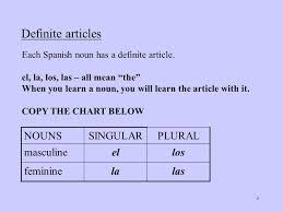 Spanish Singular Plural Chart Apuntes Notes Nouns Spanish Nouns Have Gender Either