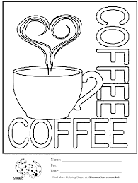 coffee coloring page. Exellent Page Free Coloring Page Coffee Cup In O