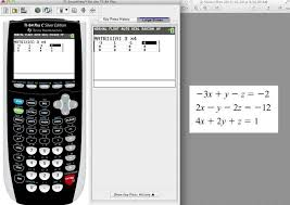 ti 84 tutorial solving for 3 variables using the rref feature in matrix you