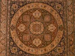 square shape hand knotted wool rug in uk