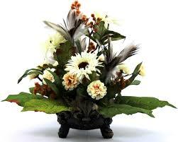 hand crafted unique silk flower arrangement table centerpiece