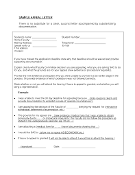 Template Appeal Letter Templates