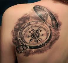 фото тату компас с крышкой татуировки и эскизы часы компасы