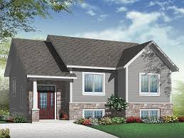 magnificent multi level house plans small split home plan fits a narrow lot