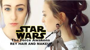 Rey Hair Style star wars the force awakens rey hair and makeup youtube 1059 by wearticles.com