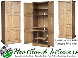 home office hideaway. Hideaway Home Office Furniture Computer Workstation 100 Solid Pine 6 Door Triple Hidden Desk Ws6d1 Oak I