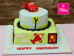 The Cars The Planes Kids Birthday Cake Customized Cakes In Lahore
