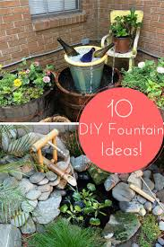making your own outdoor water fountain designs