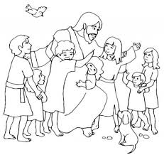 Jesus Loves The Children Coloring Pages Huge Gift With Page Little