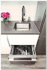 drawer dishwasher installed under sink