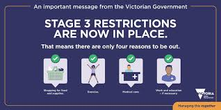 Are tougher restrictions a possibility in victoria? Vic Emergency Coronavirus Stage 3 Restrictions Are Now In Place That Means There Are Only Four Reasons To Be Out Shopping For Food And Supplies That You Need Exercise Medical Care