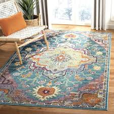 teal rose area rug colored rugs bungalow