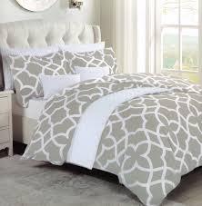 max studio jay grey modern lattice geo pattern full queen duvet cover and shams 3pc set