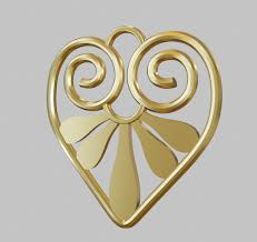 heart pendant design 3d model