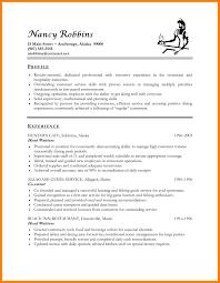 Sample Resume For Hospitality Resume For Hospitality Resume Template For Hospitality Resume For 4
