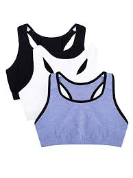 Fruit Of The Loom Womens Built Up Sports Bra Pack Of 3
