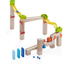 2018 haba ball track basic switch track 41 piece wooden marble run with plastic elements made in germany 97170