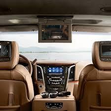 cadillac 2016 interior. 2016 cadillac escalade esv interior rear seat view of dashboard and instrument panel