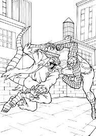 Disegno Di Spiderman Contro Lizard Da Colorare