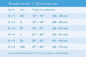 Knee Brace Size Chart Breg Shortrunner Soft Knee Brace