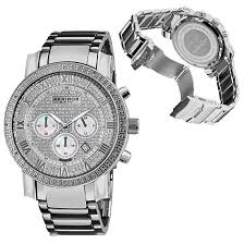 akribos xxiv men s and women s watches 99 for akribos xxiv men s watch large dial diamond quartz chronograph bracelet silver tone 725 list price