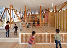 Japan School Design Yamazaki Kentaro Design Workshop Created This Stepped