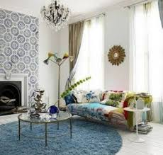 Round Rugs For Living Room Blue Shag Round Area Rug For Living Room With Floral Sofa And