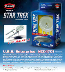 star trek enterprise ncc 1701 snap fit pre painted 1 1000 scale model kit