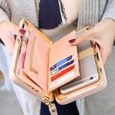 <b>Fashion Women</b> Ladies <b>Fashion PU Leather</b> Wallet Button Clutch ...