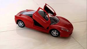 kids ferrari remote control ride and unboxing lighting car with cross open door you