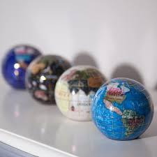 gemstone paperweight desk globe