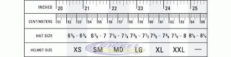 Simpson Helmet Size Chart