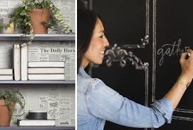 york wallcoverings magnolia home. left to right: pattern the daily and useable, erasable, chalkboard. york wallcoverings magnolia home i