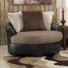 Round Swivel Chair Living Room Furniture Sophisticated Oversized Round Swivel Chair With