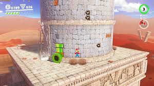 sand kingdom power moon 1 atop the highest tower tostarena ruins round tower power moon