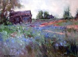spring fields bachelor ons farm landscape painting