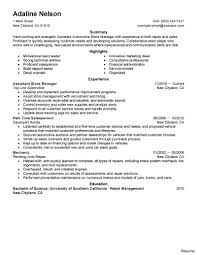 Store Manager Resume Sample Retail Store Manager Resume To Inspire You How Create A Good 100 22