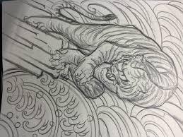 Tiger Sketch By Horimitsu Horimitsu Tattoo Artist Of Ikebukuro