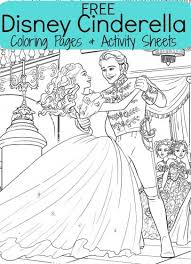 In these coloring pages, you can see cinderella either alone or with her prince. Free Disney S Cinderella Coloring Sheets Activities For Kids